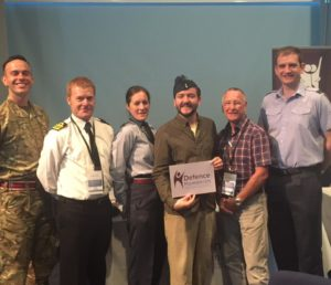 Members of the Defence Humanists at the BHA 2016 Conference with Chief Executive Andrew Copson