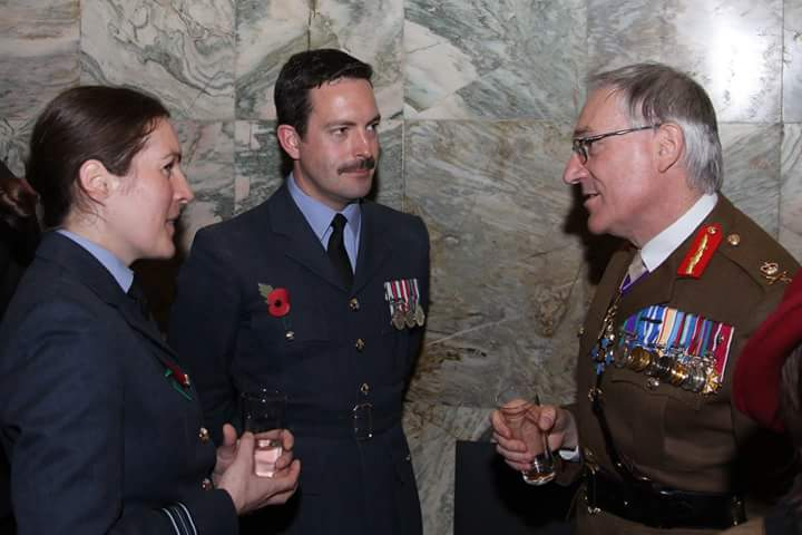 Chief of Defence People, Lt Gen Nugee, with Sqn Ldr Emily McCullouch and Sqn Ldr Andy Wasley.