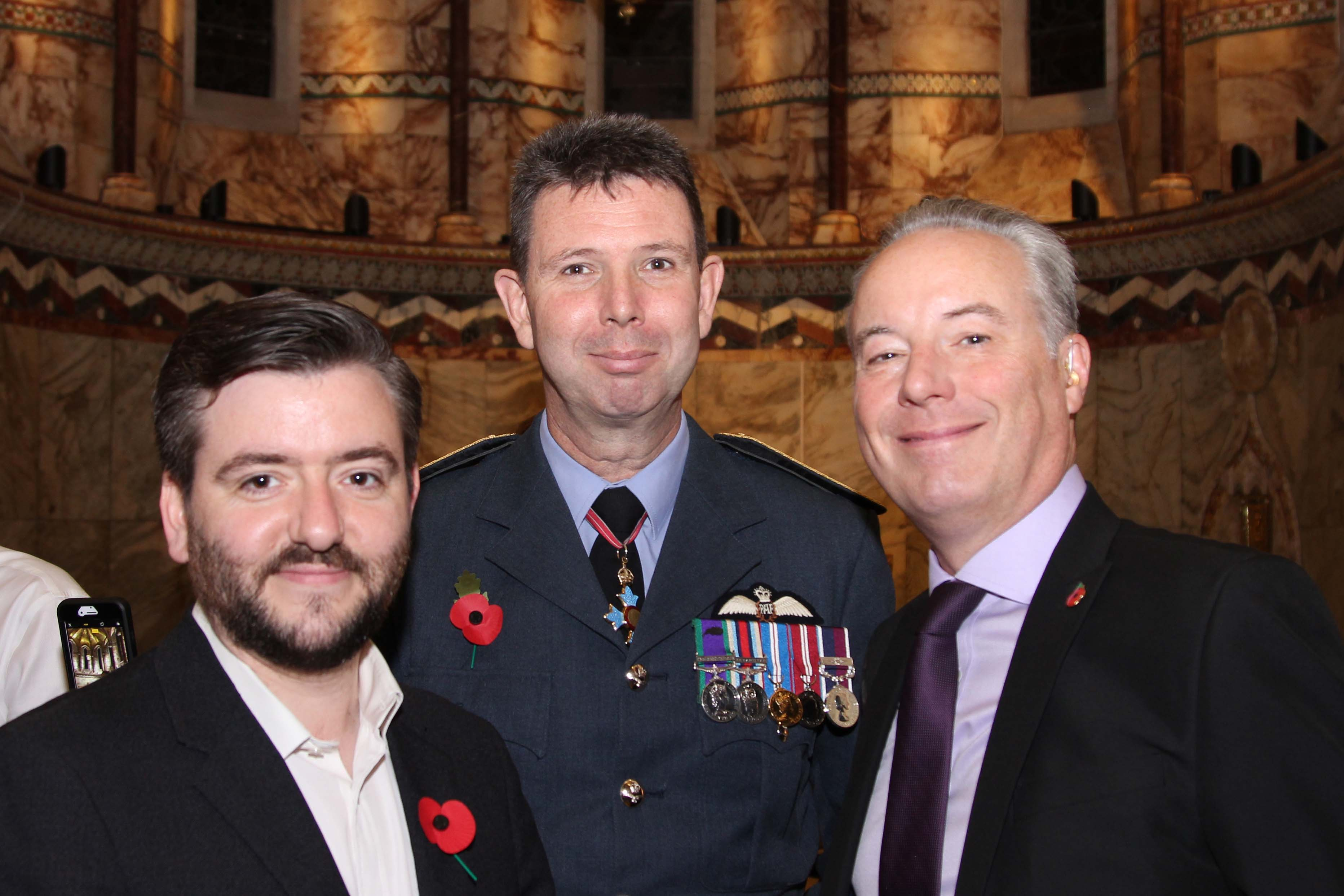 Chief Executive Humanists UK, Andrew Copson, Air Officer Commanding 22 (Training) Group, Air Vice Marshall James, and Senior Champion of the Defence Humanist Netwrok, Dr Roger Hutton.